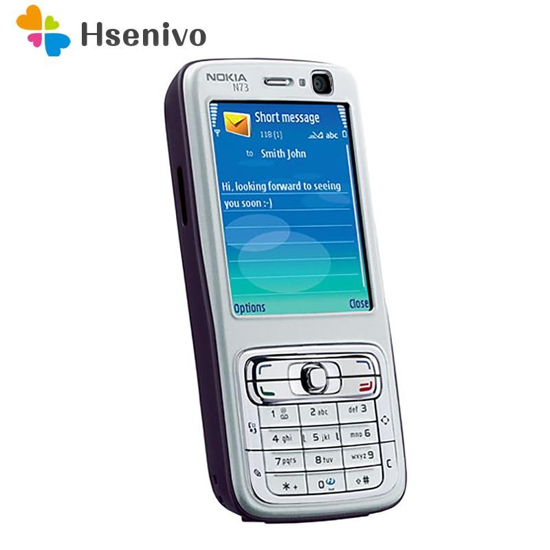 Фото. Оригинальный Восстановленный Разблокированный Мобильный телефон Nokia N73 GSM английская Арабская Ру