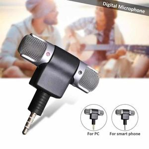 1PCs Mini 3.5mm Jack Microphone Stereo Mic for Recording Mobile Phone Studio Interview Portable Microphone 4 Pin for Smartphone
