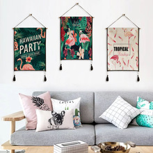 купить Flamingo pattern tapestry hanging print decorative paintings household textile tapestry custom polyester tapestry 45cm*65cm дешево