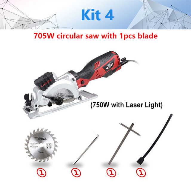 600W Electric Power Tool Electric Mini Circular Saw With Laser, DIY multi-function Electric Saw For Cutting Wood,PVC Tube, Tile