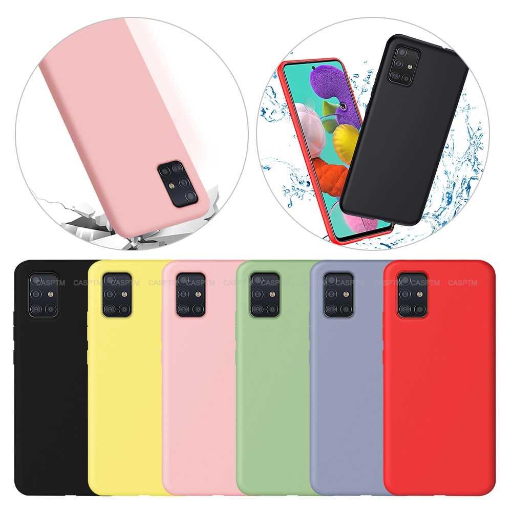 Liquido morbido Custodia In Silicone Per Samsung A51 A71 S10E S10 Più Colorato Custodia protettiva Per Samsung Galaxy A60 A40 A70 a20 A50S A30