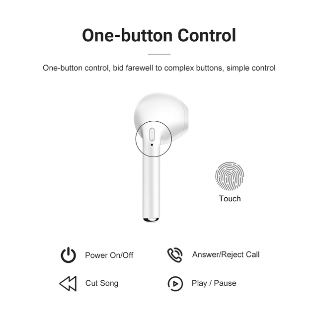 i7Mini TWS Wireless Headphones for iOS Earphones Support Bluetooth-compatible Wireless Sports Waterproof Headset with Microphone 5
