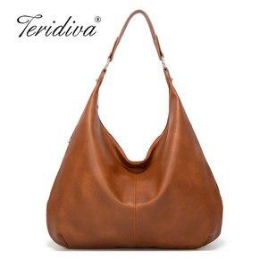 Image 1 - 2020 nowe kluski Hobos torby dla pań o dużej pojemności torby na ramię proste projektowanie mody torebki damskie duże casualowe torby tote
