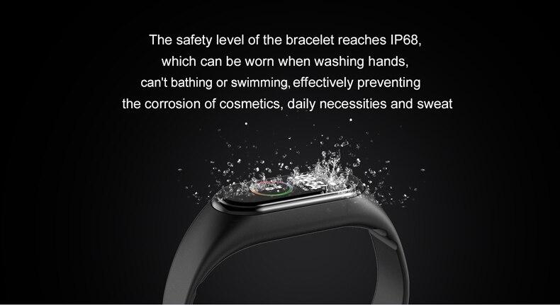 He2da1cdeb5174370a0d313707039904cJ M4 Color Screen Smart Wristband Heart Rate Monitor Fitness Activity Tracker Smart Band Blood Pressure Music Remote Control
