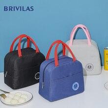 Lunch-Bag Cooler Food-Thermal-Bag Brivilas Picnic Bag Breakfast Oxford Travel Waterproof