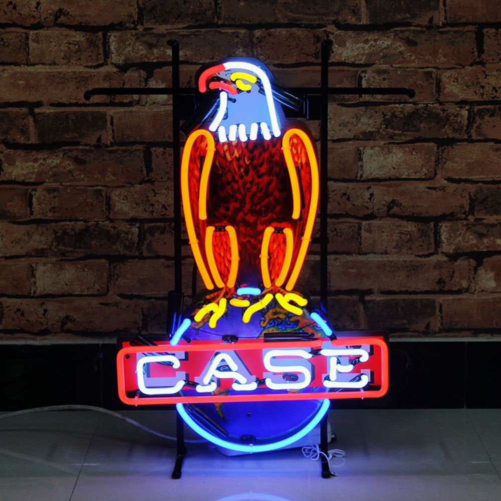Facility Customized Neon Light Up Signs Eagle Logo With Metal Support Cool Neon Signs For Commercial Neon Signs
