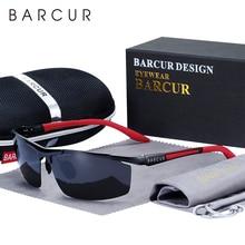 BARCUR Aluminum Magnesium Sports Polarized Sunglasses Men Mirror Sun Glasses Male oculos