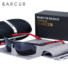 BARCUR אלומיניום מגנזיום ספורט מקוטב משקפי שמש גברים מראה שמש משקפיים זכר oculos