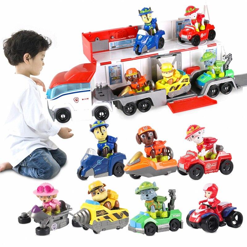 Paw Patrol Juguete rescate Bus Base Juguete Patrulla Canina vehículo Ryder figura de acción juguetes de modelo para niños Regalo de Cumpleaños 2A06