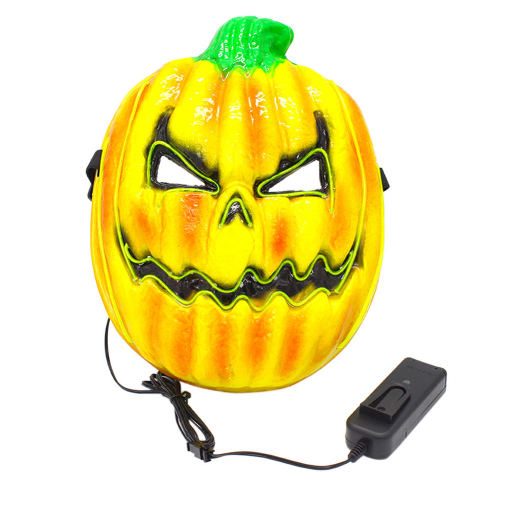 Cosplay Halloween Scary Pumpkin Mask Cold Light Creative Lights Costume Party