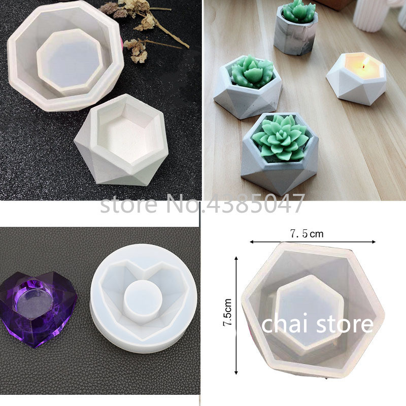 Flower Pot Mold Epoxy Resin Dried Flower Moulds Jewelry Tools UV Resin Jewelry Accesorries