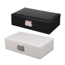 N58F Jewelry Box for Women Leather Jewelry Organizer Storage Display Jewellery Box Packaging