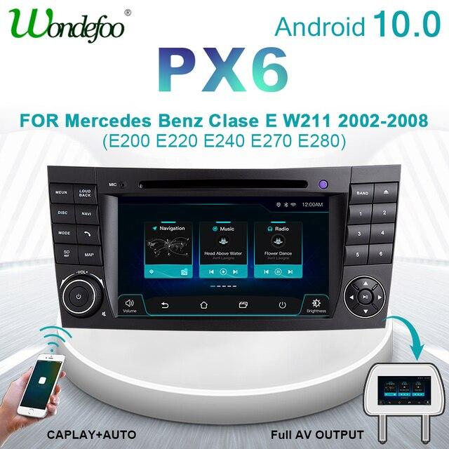 راديو للسيارة ماركة ونديفو PX6 2 DIN يعمل بنظام أندرويد 10 من فئة E W211 مرسيدس بنز CLK G Class W463 CLS W219 صوت ستيريو للملاحة