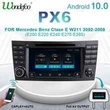 Wondefoo PX6 2 DIN Android 10 radio coche para Clase E W211 Mercedes Benz CLK clase G W463 CLS W219 estéreo para coche audio navegación Pantalla