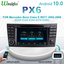 Wondefoo PX6 samochodowe 2 DIN Android 10 radia samochodowego dla klasy E W211 Mercedes Benz CLK klasa G W463 CLS W219 auto stereo nawigacji audio