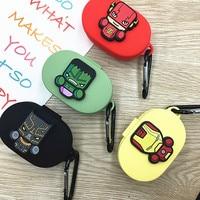 Cartoon Oortelefoon Case Met Haak Voor Xiaomi Redmi Airdots 2019 Nieuwe Case Cover Draadloze Bluetooth Oortelefoon Cases Soft Tpu Shell