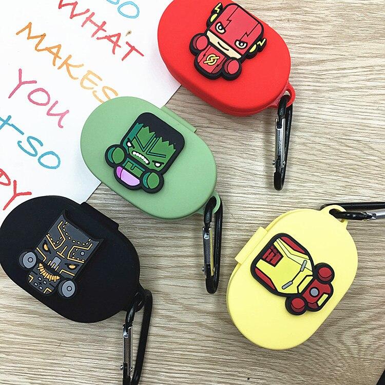 Funda para auriculares de dibujos animados con gancho para Xiaomi Redmi AirDots 2019 nueva funda para auriculares inalámbricos Bluetooth carcasa suave TPU