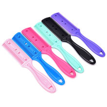 1pc Double Sides Hair Razor Comb With 2 Removable Blades Cutter Cutting Thinning Shaper Haircut Trimmer Styling Tool