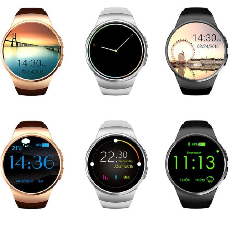 KW18 Bluetooth montre intelligente hommes prennent en charge SIM TF carte montres-bracelets moniteur de fréquence cardiaque sport téléphone Smartwatch pour Android IOS femmes