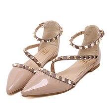 Леди Персонализация пикантная обувь с острым носком, большие Size42 43 Ремешок на щиколотке подошве из мягкой кожи, женские ботинки на толстой п...