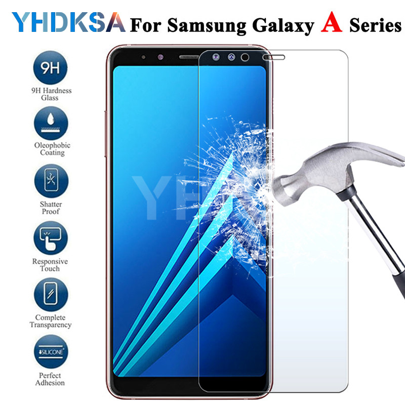 9H Tempered Glass For Samsung Galaxy A3 A5 A7 2015 2016 2017 A6 A8 Plus A9 2018 Screen Protector Safety Protective Glass Film
