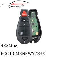 3 + 1 przyciski 433Mhz PCF7941 układu Y160 ostrze do Jeep Grand Cherokee 2008 2009 2010 2011 2012 centralny zamek z pilot zdalnego sterowania