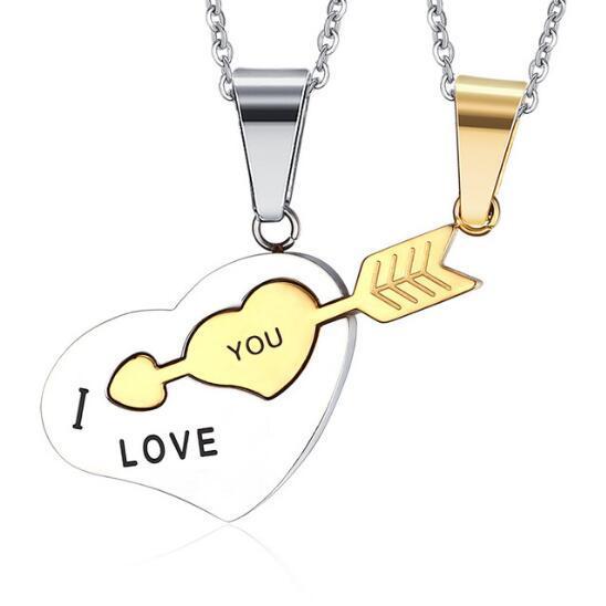 Фото looker i love you ожерелье лучших друзей кулон из нержавеющей цена