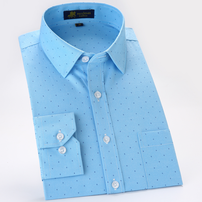 Men's Casual Long Sleeve Printed Oxford Shirt Single Patch Pocket Regular-fit Button-down Plaid Checkered Thick Work Shirts