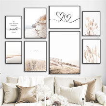 Modern autumn Scenery Painting Home Wall Art Decor Print and Poster Grass Landscape Picture Canvas Painting for Dormitory Design