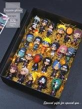Naruto kit de garagem modelo conjunto completo boneca bonito sasuke kakashi i aro doninha decoração presente setfidget brinquedos