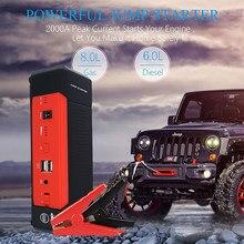 Najlepsza jakość 2000A wysoka pojemność mocy 20000mah 12V przenośny do samochodu urządzenie do awaryjnego uruchamiania akumulatora do samochodu