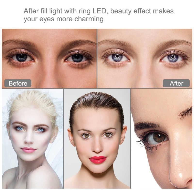 Photographie Dimmable LED Selfie anneau lumière Youtube vidéo en direct 3500-5500k Photo Studio lumière avec support pour téléphone USB prise trépied