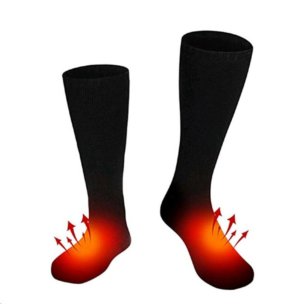 1 Pair Electric Battery Operated Heated Thermal Socks Winter Hunting Fishing