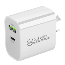 Universal Travel 20W USB Type C PD Home Wall Quick Charger Power Adapter EU US UK AU Plug For Phone 12 and other Device QC3.0+PD