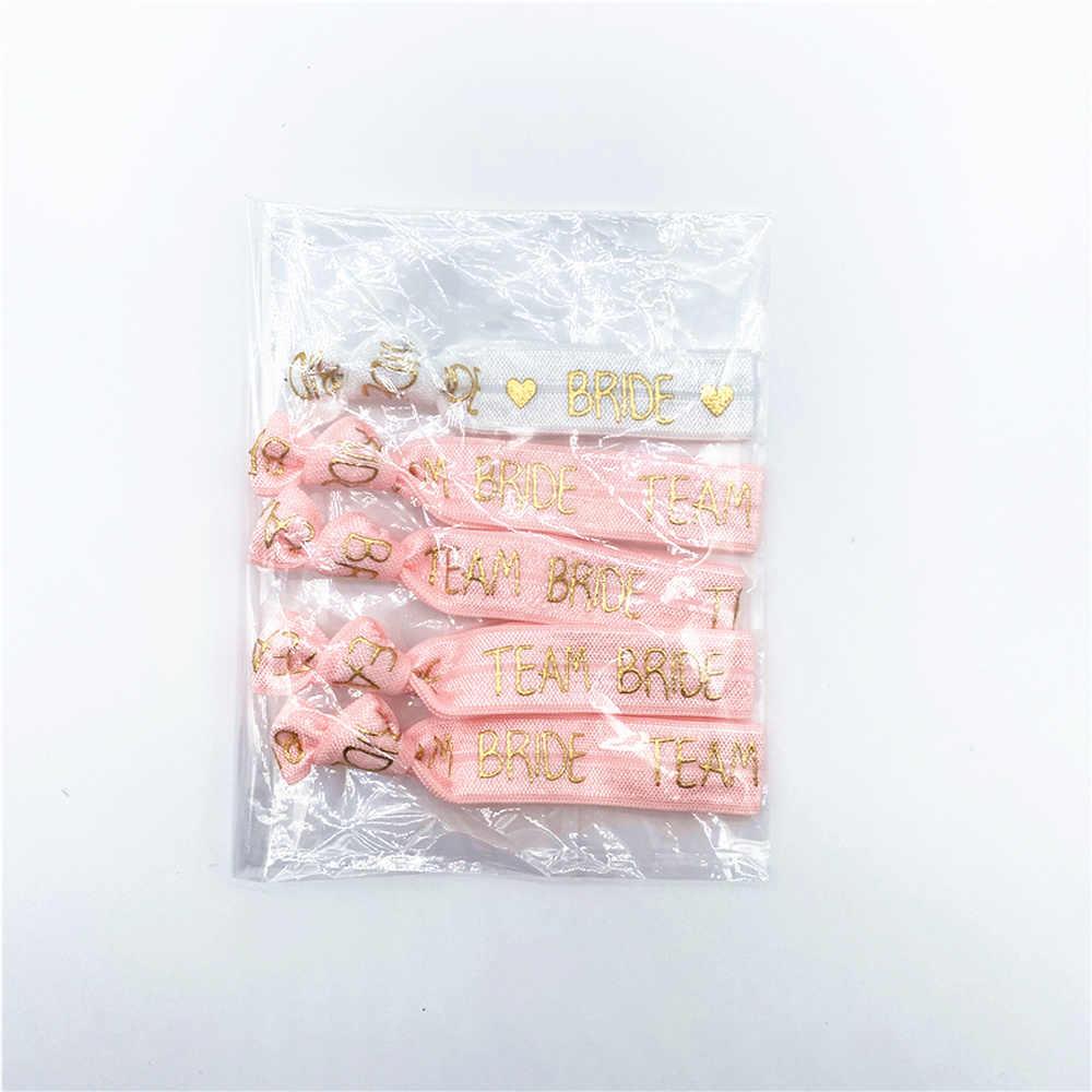 複合販売 (1 + 10 個) 編パーティー夜の結婚式の装飾用品独身パーティーブレスレットチーム花嫁はブライダルシャワー