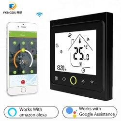 WiFi Slimme Thermostaat Temperatuur Controller voor Water Verwarming Werkt met Alexa Google Thuis