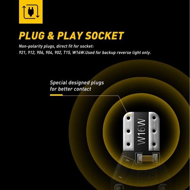 2x T15 led Canbus 921 W16W samochodowa żarówka LED dodatkowe światła cofania dla Audi A4 B8 B6 A3 8P RS5 A6 C5 C6 C7 A7 A8 Q5 Q7 S4 S5 S6 TT