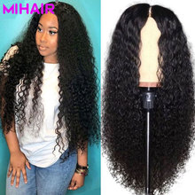 Brazilian Hair Deep Wave Lace Frontal wigs Remy Human Wigs 13x4 With Baby Swiss Natural Black