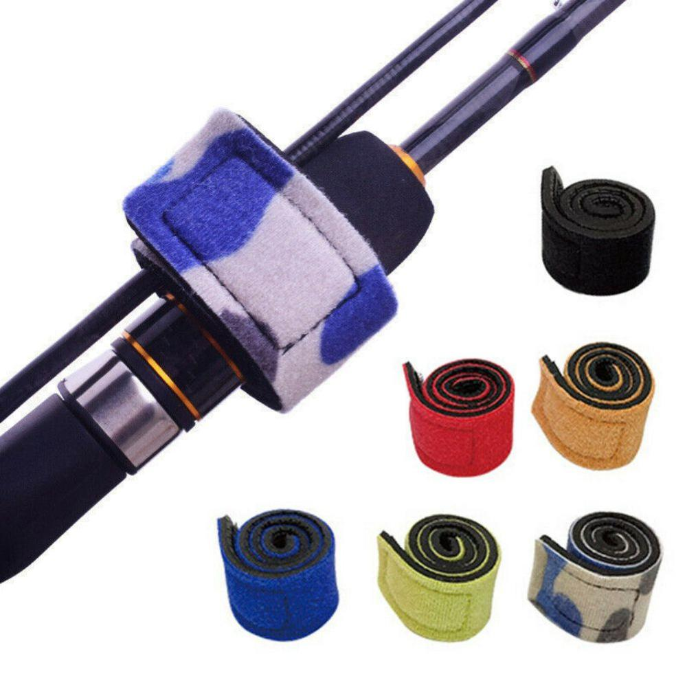 High-quality Durable Fishing Rods Belt Non-slip Bundles Brackets Wrapping Belts Reusable Band Pole Straps