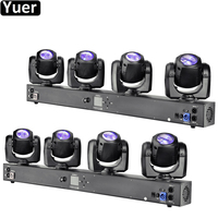 2Pcs\/Lot NEW Disco Lighting 4x32W RGBW 4IN1 LED Four Heads Moving Head Light DMX512 Sound Channel For DJ Disco Party Night Light