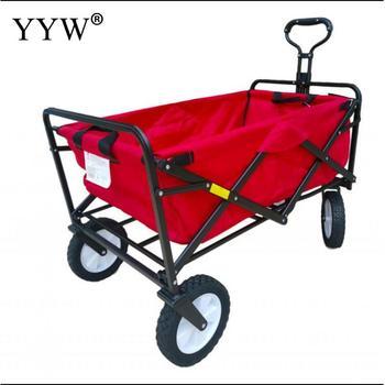 Wagon Cart Trolley Garden Outdoor Cart 4 Wheels Heavy Duty Folding Cart Hand Truck Trolley Cart Wagon Utility Carts Gardening  - buy with discount