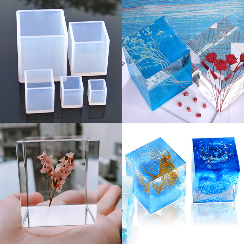 Creative Cube Shape Candle Soap Making Mold Square Candle Silicone Mold DIY Plaster Aromatherapy Resin Crafts