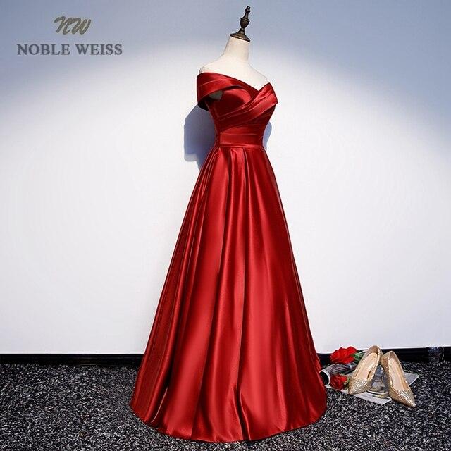 Long Prom Dresses V-Neck Off The Shoulder A-Line Floor-Length Satin Dress Prom Prom Long Elegant Dresses 3