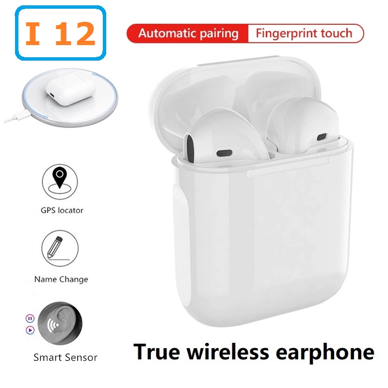 I12 Original TWS In ear Blutooth Earphones Wireless Sport Headset Stereo earbuds Headphones fone de ouvido auriculares PK i9000