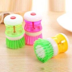 1 sztuk 8.5*6.5cm kreatywny wysokiej jakości plastik pranie w kuchni naczynia Pot szczotka do naczyń z zmywaniem płynów dozownik do mydła
