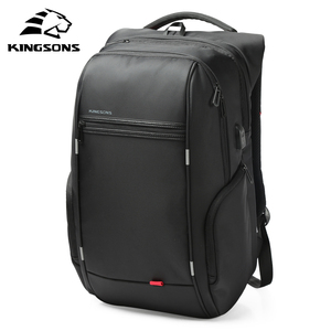 Image 2 - Kingsons 15 inch Laptop Backpacks USB Charging Anti Theft Backpack Men Travel Backpack Water Repellent School Bags Male Mochila