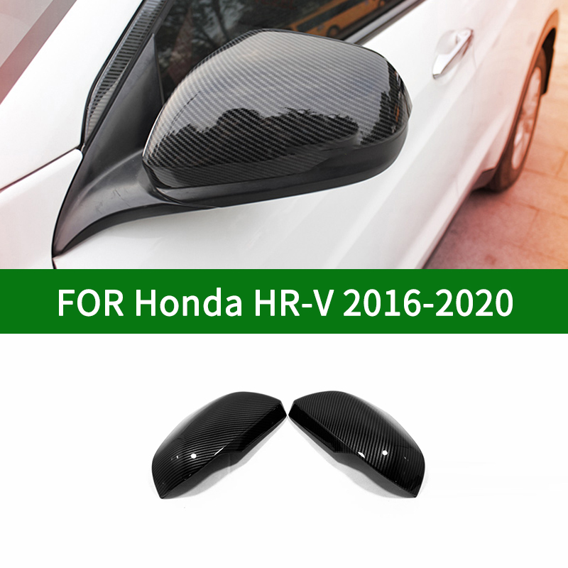 For <font><b>Honda</b></font> HR-V <font><b>HRV</b></font> 2016-2020 car Rearview <font><b>mirror</b></font> cover trim,<font><b>Honda</b></font> VEZEL accessories carbon fibre <font><b>Side</b></font> <font><b>Mirror</b></font> Covers 2018 2019 image