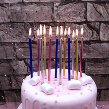 5pcs Gold Bright Creative Romantic Party Birthday Candle Safe Flames Wedding Cake Home Decoration