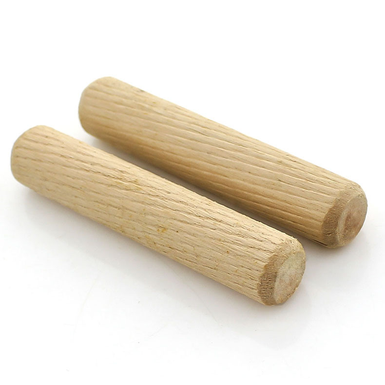 High-quality Dutch Wooden Stick Home Connector Round Wooden Plug Twill Wooden Pin Furniture Connector M6M8M10M12 50pcs
