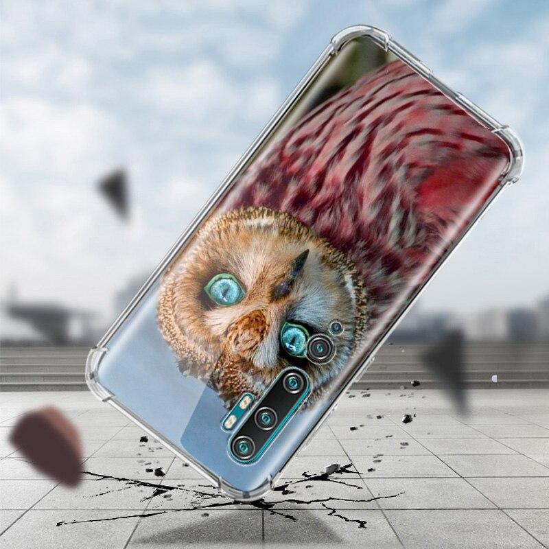 Camouflage Owl Case For Xiaomi Mi Note 10 9 CC9 9T Pro 5G CC9E A2 Lite X2 Airbag Anti Fall TPU Phone Coque